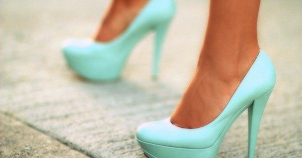 Mint green high heels