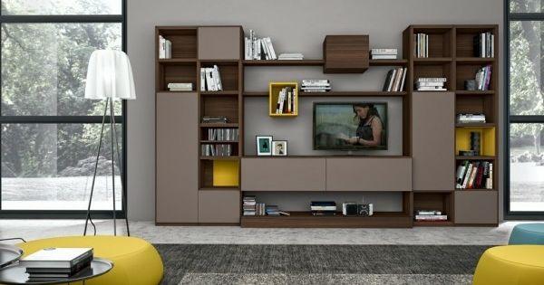 Armoire de rangement pour un s jour moderne biblioth que for Armoire de salon moderne