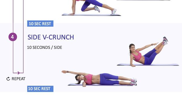 8 Minute Bikini Ab Workout Abs Fitness Exercise Home