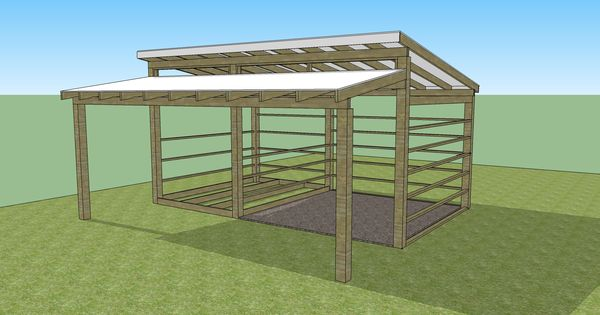 Our small horse barn and tack room in sketchup horse for Tack shed plans