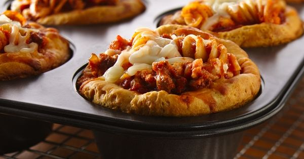Lasagna Pasta Pies Recipe and more muffin tin recipes