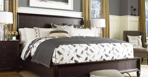 Universal furniture summer hill midnight woven bed - Furnitureland south bedroom furniture ...