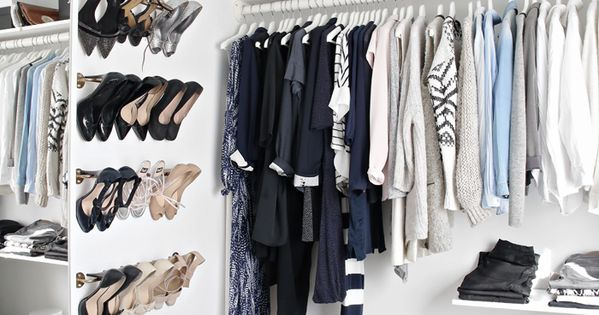 A Crisp and clean closet, yes please! Love the idea of the