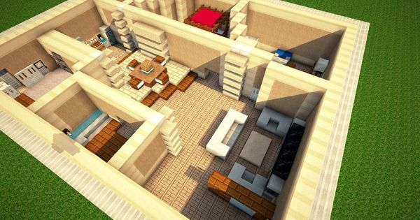 good layout plan for a rectangular house minecraft