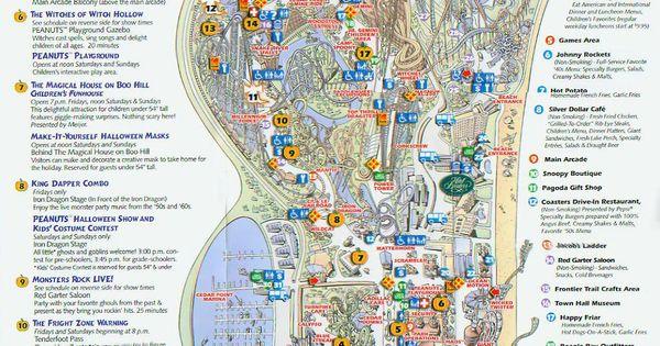Cedar point 2003 halloweekends map maps local for Marshalls cedar park