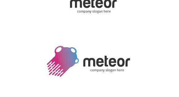 meteor logo – suitable for tech startup