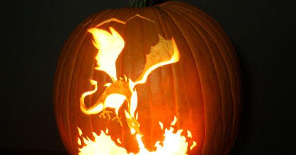 2shea Creative Pumpkin Carving Templates Dragon