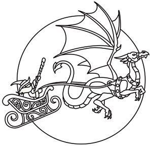 Santa S Dragon Christmas Dragon Dragon Coloring Page Christmas Embroidery Patterns