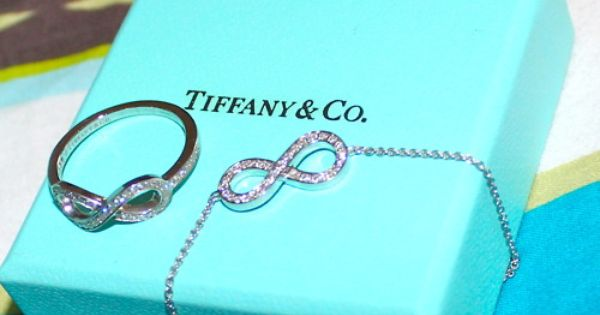 Tiffany infinity ring and necklace. LOVE