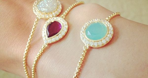 gemstone bracelets - so pretty