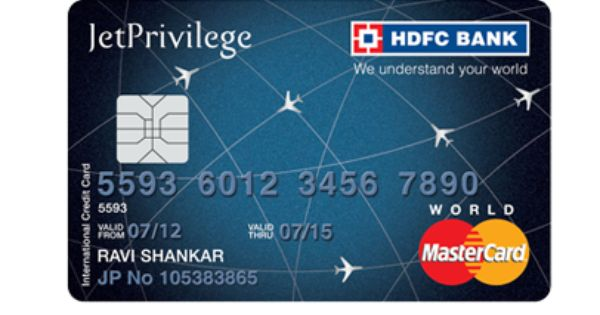 Hdfc Bank World Credit Card Already Have A Jetprivilege Hdfc Bank
