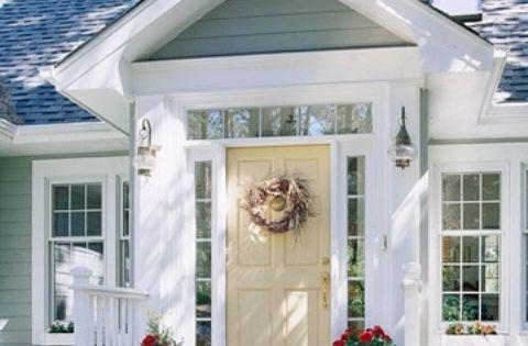 30 cool small front porch design ideas digsdigs house for Couleur exterieur maison tendance 2014