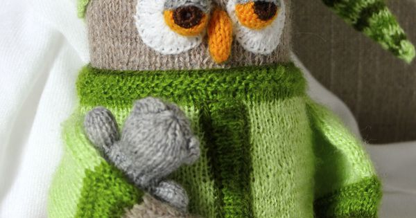 Knitting Pattern For Bernard The Elf : Hand knitted sleepy Owl, made out by Alan Darts pattern ...