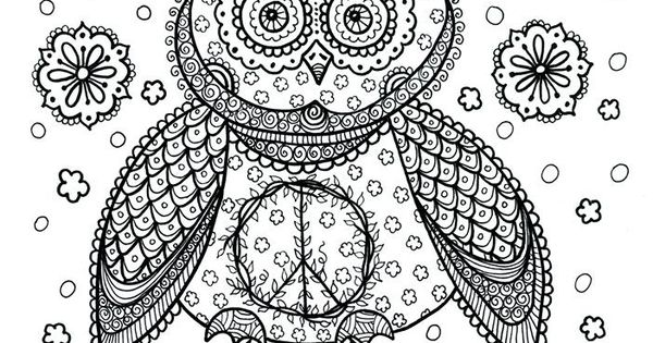 owl abstract coloring pages - photo#22
