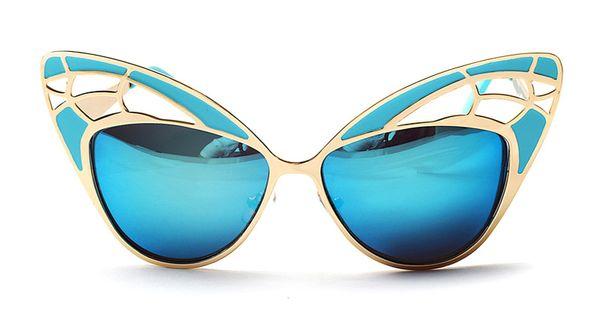 a26f6d06526 ROYAL GIRL Exaggeration Women Cat Eye Sunglasses Retro Hollow out Mirror  Glasses Brand Designer oculos de sol feminino ss088