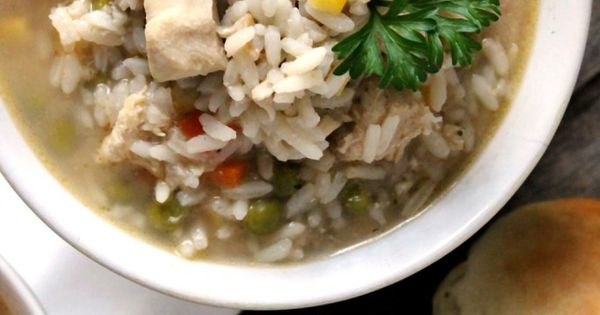Hearty Chicken and Rice Soup | Recipe | Rice Soup, Rice and Soups