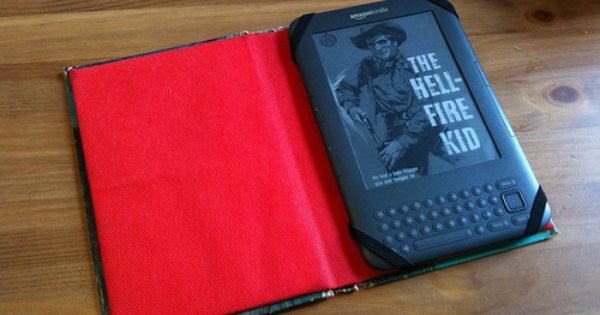 Make Your Own Kindle Case From An Old Book Kindle Case Book Crafts Kindle Cover
