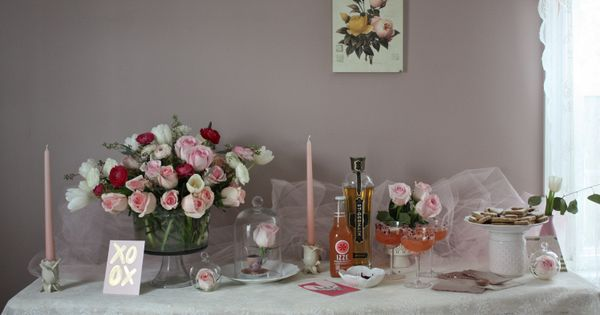 valentine's day cocktails with champagne