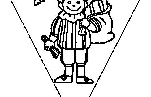 vlaggetjes maken sinterklaas knutselen