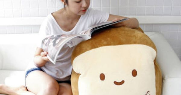 "WHAT?! Bread 28"" Super Size Plush Pillow Cushion Doll Room Home Decoration"