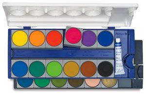 Pelikan Watercolor And Gouache Pan Sets Gouache Paint Set