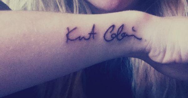 Kurt Cobain's autograph. #kurtcobain #tattoo #nirvana ...
