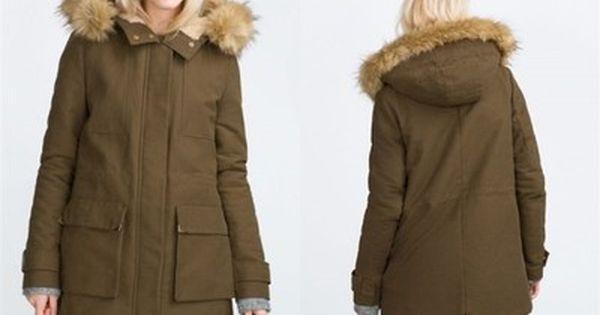 Zara Trf Kurtka Kozuch Z Kapturem Parka M 38 6674461712 Oficjalne Archiwum Allegro Parka Zara Winter Jackets