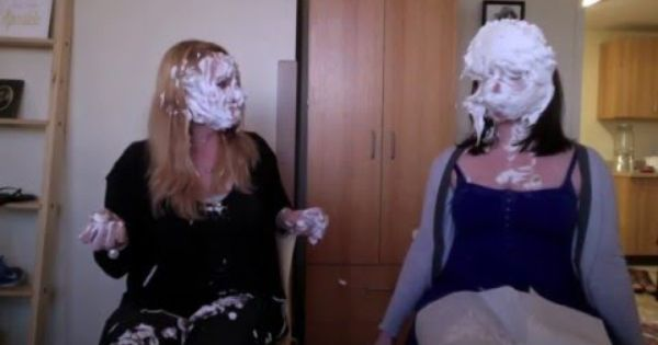 Cute Girls Get Into Pie Fight Pies And Slime