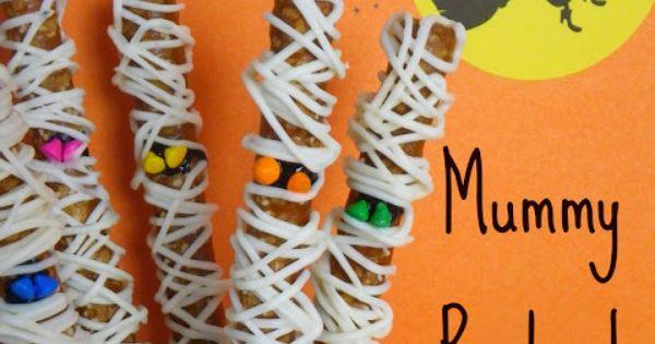 Mummy Pretzel Rods