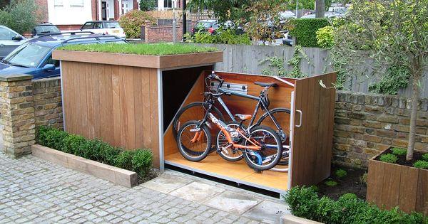 fahrrad unterbringung outdoor pinterest fahrr der fahrradabstellraum und fahrradgarage. Black Bedroom Furniture Sets. Home Design Ideas