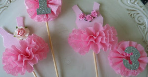 DIY ballet cake toppers