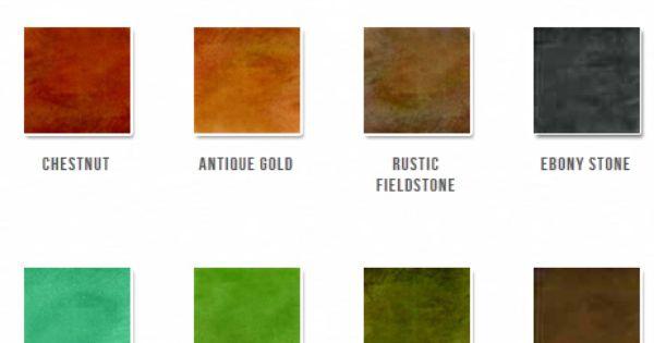 Concrete Stains Color Chart Provided By Sri Concrete