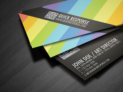 Qr Code Quick Response Business Card 01 Graphic Design Business Card Business Card Design Business Card Inspiration
