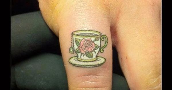 Tea time. I would love to have a small tea cup tattoo,