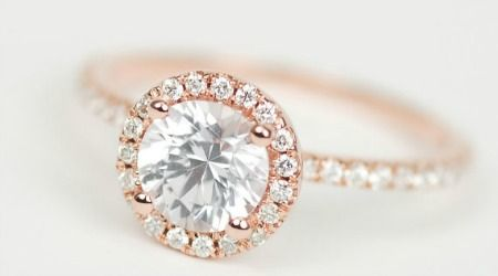 6 Awesomely Unique Engagement Rings From Etsy 3 Are Less Than 400 Which Would You Wear Yellow Gold Halo Engagement Ring Rose Gold Halo Engagement Ring Rose Gold Engagement Ring