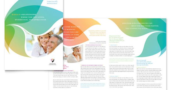 Marriage counseling brochure design template by for Counseling brochure templates free