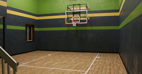 Indoor sport court high ceiling in the for Basement sport court