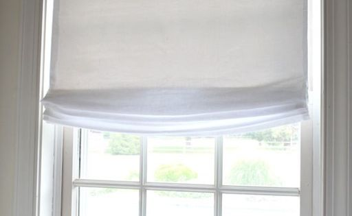 No Sew Window Treatment Relaxed Roman Shades Relaxed
