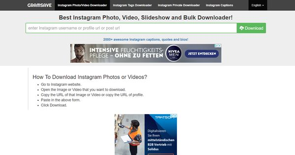 Instagram Photo, Video, Slideshow and Bulk Downloader | OnlineTools