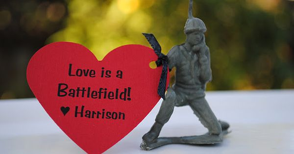 Little Green Army Men Valentines... perfect for little boys to give out!