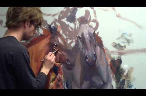 Still painting horses mural joe l 39 art pinterest for Mural joe painting