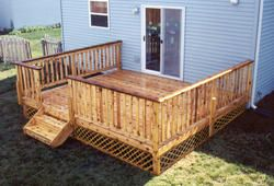 14 X 14 Deck W Decorative Apron Building A Deck Deck Deck Projects