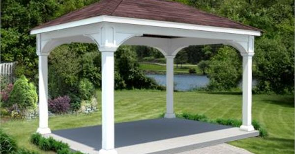 10 X 16 Vinyl Ramada Backyard Pavilion Backyard Gazebo Outdoor Pergola