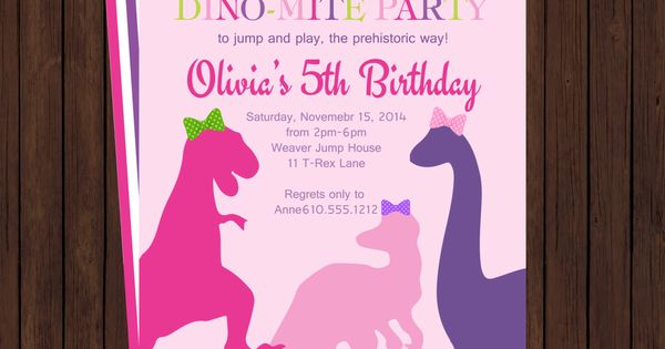 Dinosaur Invites for adorable invitation design