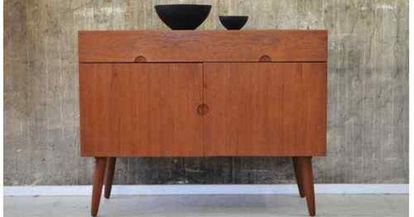 60er bramin teak kommode sideboard danish design 60s h w. Black Bedroom Furniture Sets. Home Design Ideas