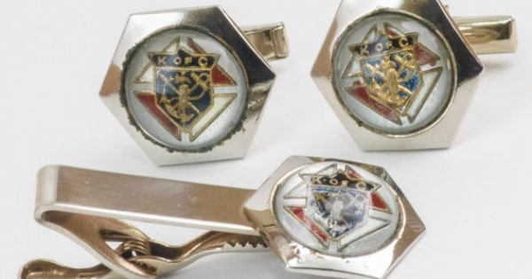 Vintage Cufflinks Set  Knights of Columbus by CuffsandClips, $29.50