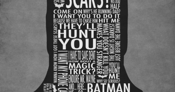 """The Dark Knight"" Typography Poster Batman"