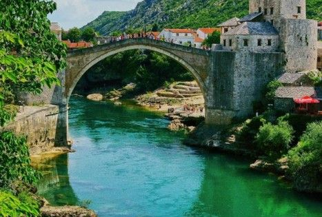 Travel Inspiration - Mostar, Bosnia. Mostar's Old Bridge was built in the