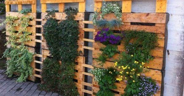 Jardines verticales con palets reciclados invernadero for Jardines verticales lima
