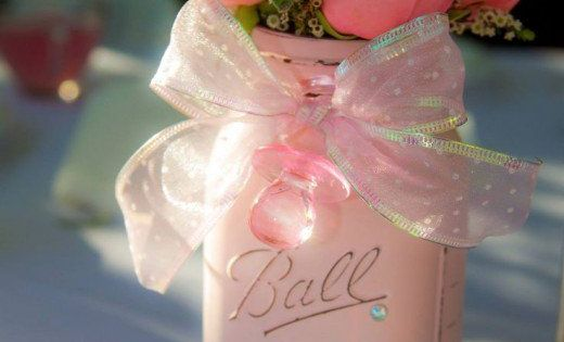 diy baby shower ideas for girls girly gifts jars and. Black Bedroom Furniture Sets. Home Design Ideas